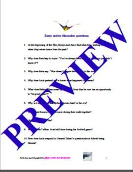 Thesis statement betrayal kite runner movie